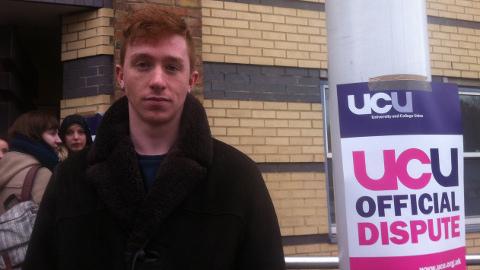 Queen Mary student Ben Gray. Pic: Hetty Musfirah