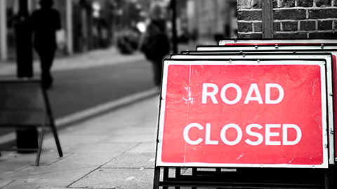 Road closed. Pic: Zach Inglis