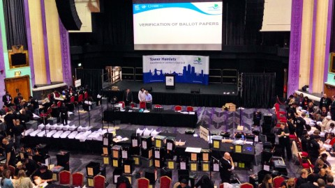 The count is underway here at the Troxi cinema in Tower Hamlets