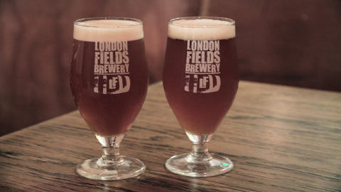 Glasses Of London Fields Brew