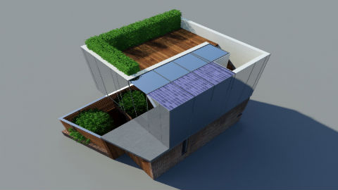 Futuristic design for this 'invisible' eco-home. Pic JaK Studio