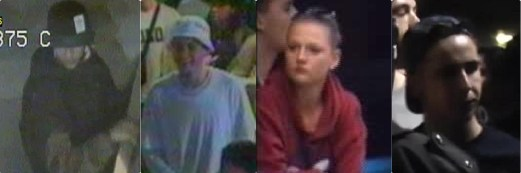 CCTV images of the suspects that police want to trace Pic: Met Police