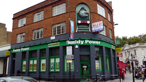 A photo of Paddy Power in Hackney - by Ewan Munro on East London Lines