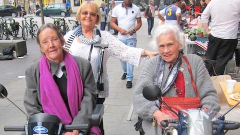 Three of Hackney Circle's new members. Pic: Jessica Chia