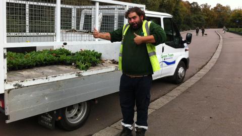 Daniel Keating, park gardener. Pic: Kathryn Sunnucks