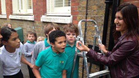 Pupils from Gayhurst school. Photo: Erland Evans