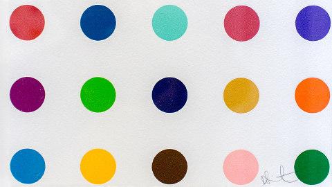 Damien Hirst artwork. Pic: See-ming Lee