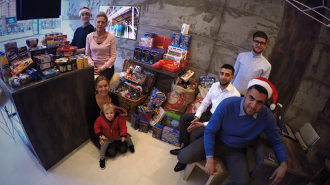 Team from StokeyParents and Location Location with some donations. Pic: Jenna Fansa