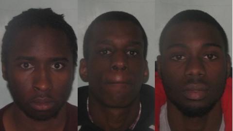 Yahaya Abrahim-Usmen, Ruben Loufimpou and Corey White were sentenced to a total of 44 years. Pic: Metropolitan Police.