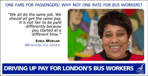 Bus drivers putting their message out across social media.