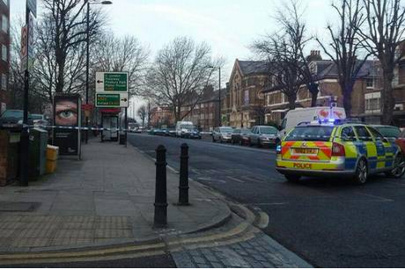 Police in seven sisters road. Pic: @shormrimOfficial