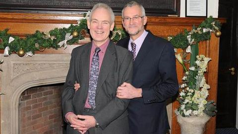 "Ross Burgess and Roger Burg ""married at last"". Pic: Alice Harrold"