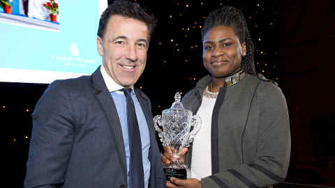 Mercy Brown at Canary Wharf Sports Personality of the Year. Pic: Canary Wharf Group PLC.