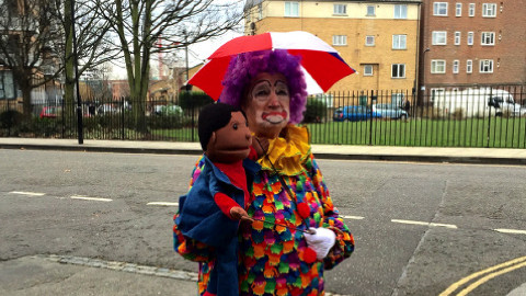 A clown at the event. Pic: Hannah Boland