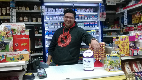 Arulanantham raised over £1000 for charity with just one collection box. Pic: Stroke Association