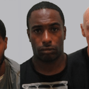 Junior Lewis, Cornell Burrell and Tony Daly will spend a combined 13 years behind bars Pic: Met Police