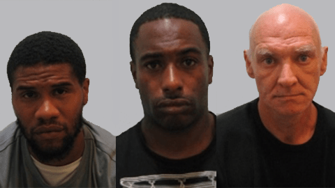 Junior Lewis, Cornell Burrell and Tony Daly will spend a combined 13 years behind bars Pic: Metropolitan Police