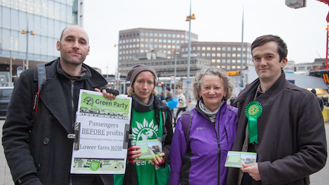 The Green Party is calling for public ownership of Southeastern train services Pic: Green Party