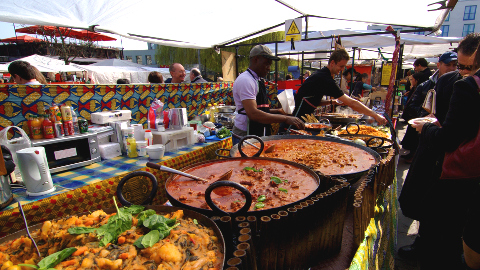 Food market in London: Pic: Flickr