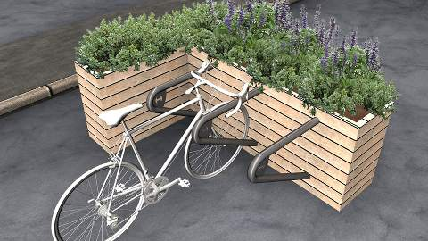 An example of a parklet cycle rack. Pic: Cyclehoop