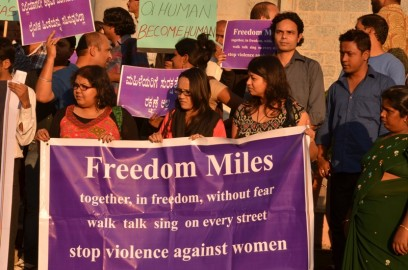 Protests in Delhi following the 2012 rape of a young woman. Pic: Wikipedia