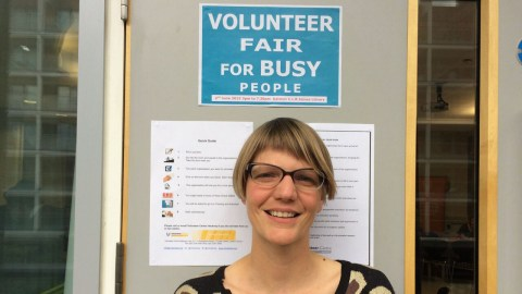 Katie Barton, Head of Volunteering at VCH, encouraged all people to do some volunteer work. Pic: Aleksandra Michalik.