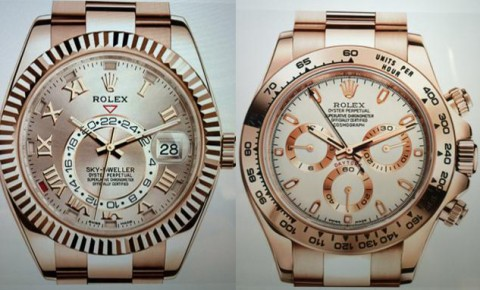 The Sky Dweller and Daytona Rolex models bought by the fraudsters