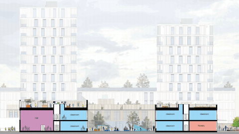 Pic: The proposed Nightingale Primary School site on Tiger Way. Credit: Hackney Council