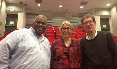 From left to right: Pat Younge, Sian Kevill, Mike Flood Page. Credit: Zak Thomas.