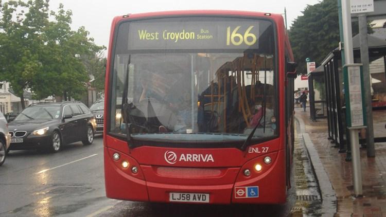 Croydon's 166 bus - source wikimedia commons