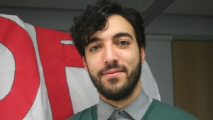 Student walkout Daniel Nasr AI