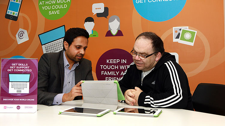 Members of the public use the service to gain basic digital skills such as how to use tablets. Pic: Croydon Council
