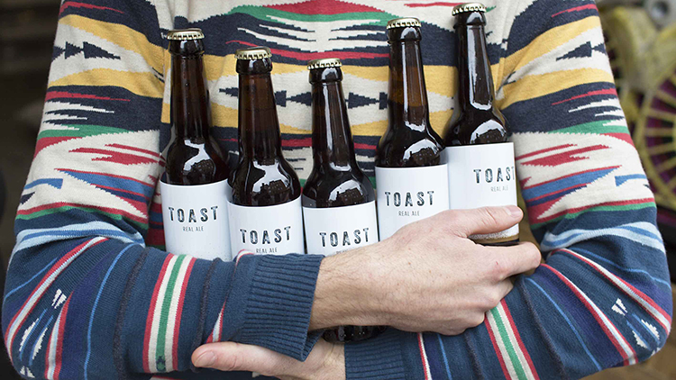 The UK's first bread-to-beer project uses fresh surplus bread. Pic: Toast Ale