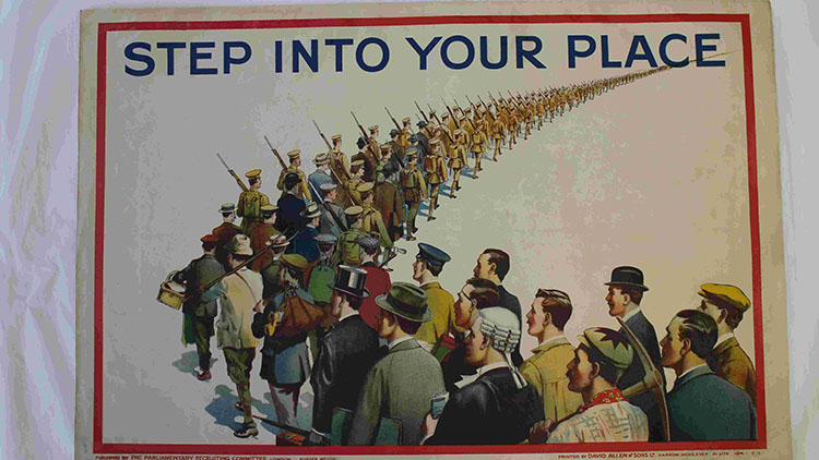 1st World War propaganda poster. Pic: Hackney Council