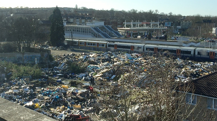 The dump is the size of a football pitch. Pic: Areej Zayat