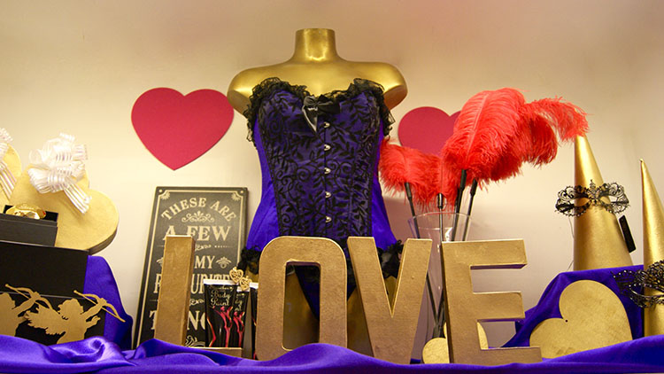 Love is in the air at Hoxton's Sh! Emporium. Pic: Courtesy of Sh! Emporium