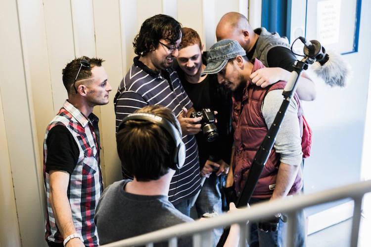 Cast and Crew of Battle Creek Hackney. Pic: Azeem Mustafa.