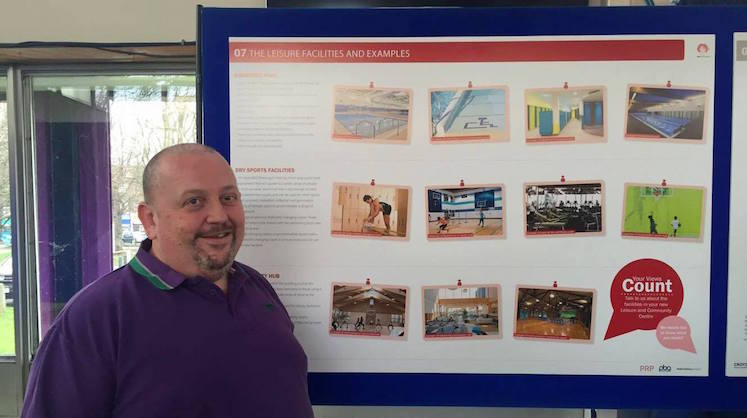 Councillor Simon Hall was at the event where the public could view the plans. Pic: Anna Soerensen