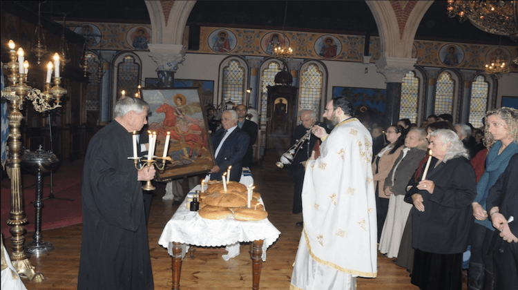 The Orthodox Easter service will take place on 1 May this year PIC: Greek Orthodox Church of St Constantine and St Helen