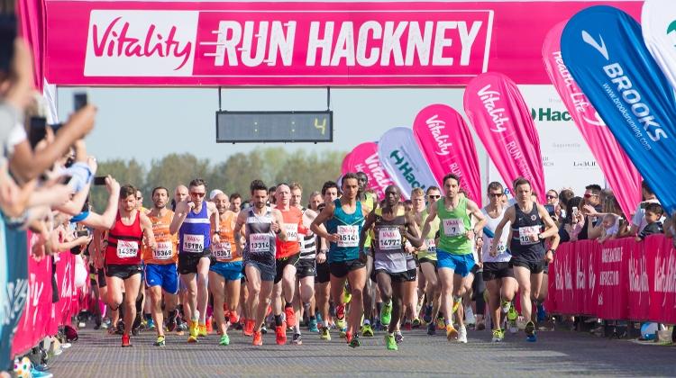 Runners starting the Vitality Run Hackney. Pic: