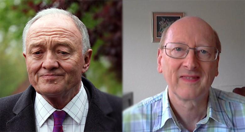 Ken Livingstone and David White. Pic: Antoni Devlin