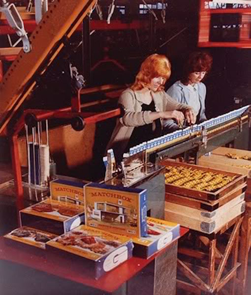 Women at work in a Lesney factory in the mid 60s. Pic: Giles Chapman/Britain's Toy Car Wars