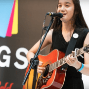 Clarissa Mae, the youngest winner of the Mayor of London gigs.