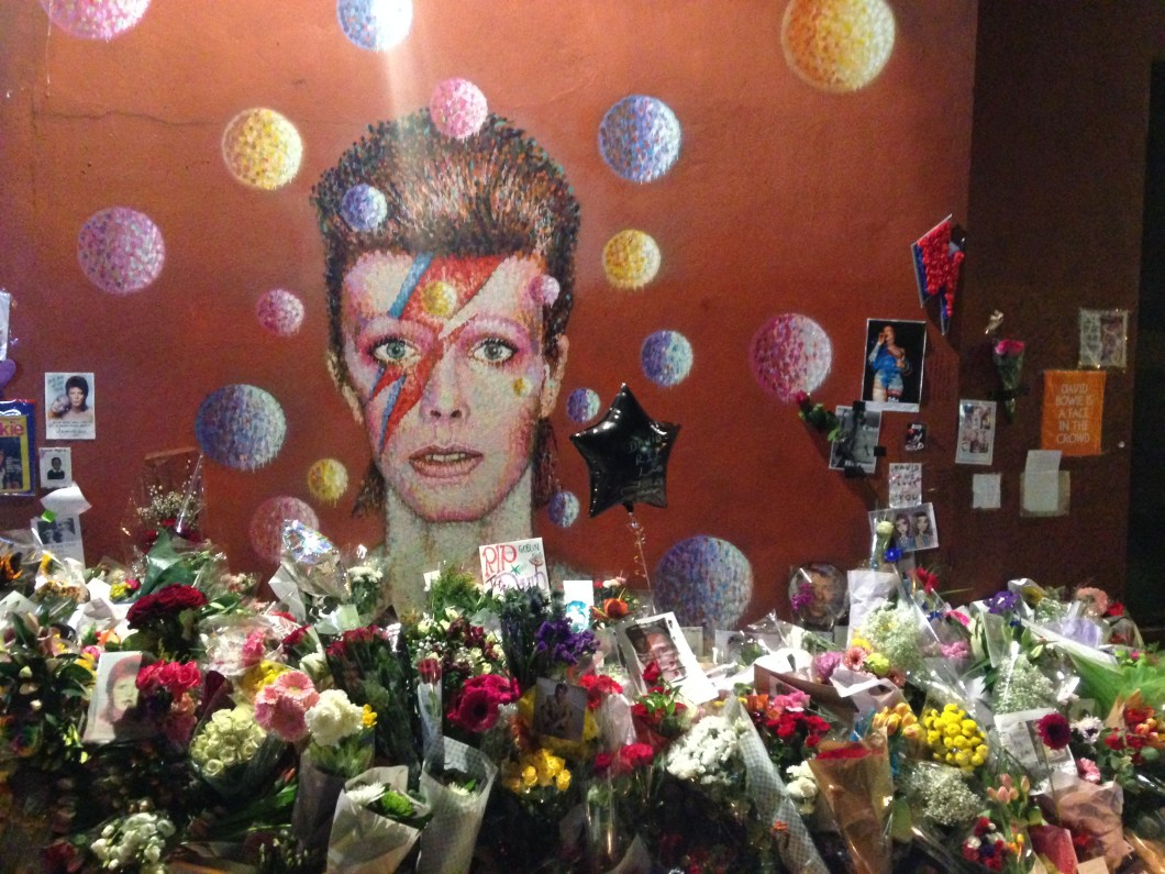 Bowie's memorial in Brixton. Pic: Wikipedia Commons
