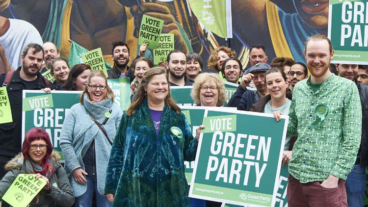 The Hackney Green Party with Alastair Binnie-Lubbock (right) - pic; Alastair Binnie-Lubbock