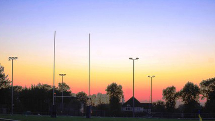 The rugby pitches at the Whitgift School in Croydon PIc: N Chadwick