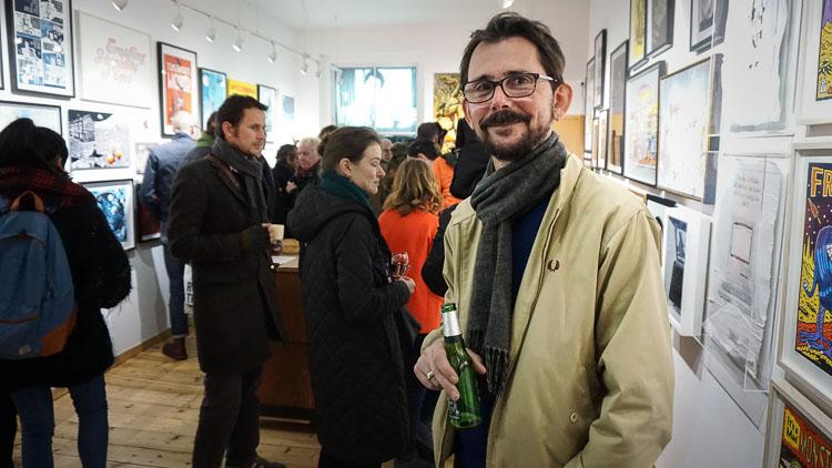 Atom Gallery co-owner Richard Pendry. Pic: Rikke Etholm-Idsoøe