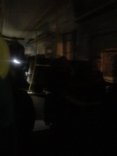A train in pitch black after losing power. Pic: Tom Chalmers @Tom_Chalmers