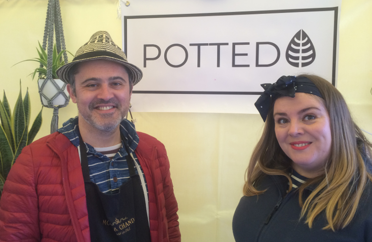 Owners of Potted, Nick Williams and Vicky Frost. Pic: William Taylor-Gammon