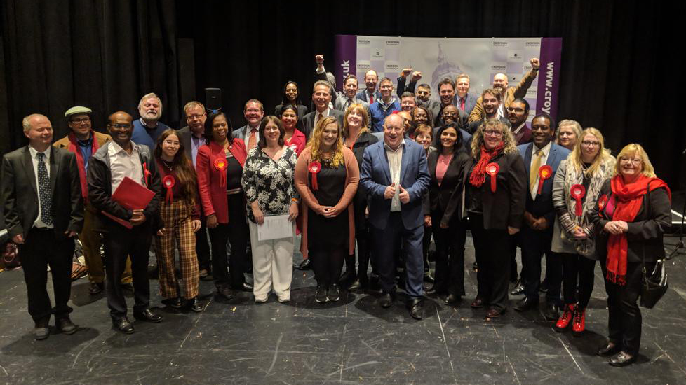 Croydon Labour celebrate their success in the 2018 local elections. Pic: Croydon Labour